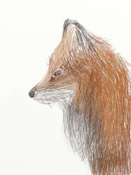Fox Pencil by majykwolfe