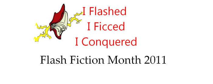I Conquered FFM 2011 Mug by Flash-Fic-Month