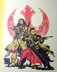 Papercutting Art : baze malbus and chirrut imwe by Yuki-Shibaura