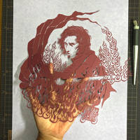 Paper Cutting : Kylo Ren / The Last Jedi by Yuki-Shibaura