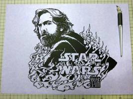 Kirigami Art : Luke Skywalker / The Last Jedi by Yuki-Shibaura