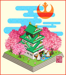 Pixel Art :Hanami Porgs by Yuki-Shibaura