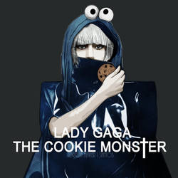 Lady GaGa...The Cookie Monster by ronnieBEe