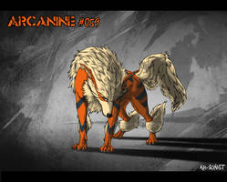 Arcanine #059 by Kuuranhukka