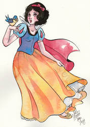 Snow white by Little-Roisin