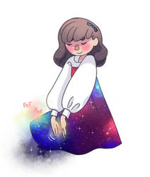 little galaxy dress by Little-Roisin
