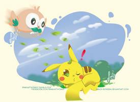 Get him ---- Rowlet by Nekoi-Echizen