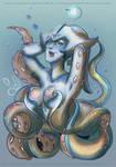 Scilla - Drawlloween 2016 - tentacles by Nekoi-Echizen