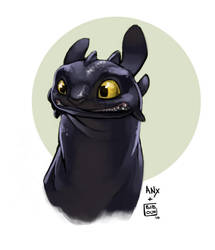 Toothless Collab ANX by bib0un