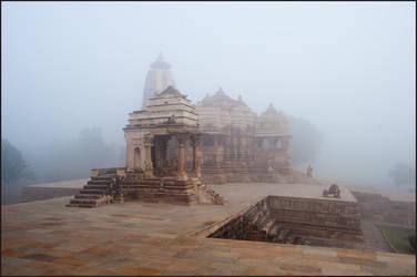 Foggy Morning in Khajuraho by IgorLaptev