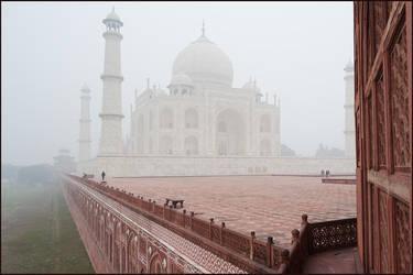 Agra and Taj in January by IgorLaptev