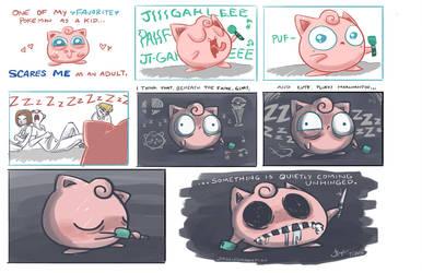 Evil Jigglypuff by johannamation