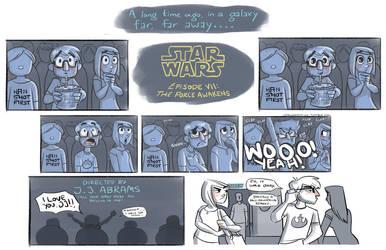 Star Wars 7 Opening Night by johannamation