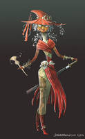 Swordmistress Skull Kid by johannamation