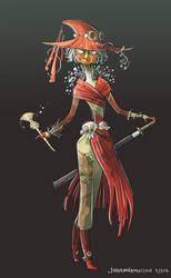 Swordmistress Skull Kid by johannamation