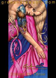 Strawberry Cream Sexy Fantasy Mermaid Art Greg And by Greg-Andrews-Art