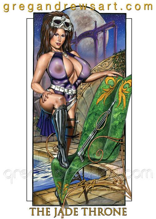 JADE THRONE fantasy pinup diver greg andrews arti by Greg-Andrews-Art