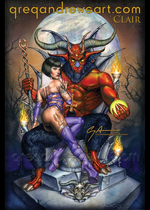 CLAIR fantasy comic pinup horror art greg andrews by Greg-Andrews-Art