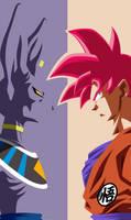 Goku Ssj God Red and Bills Wallpaper by YobuGV
