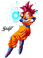 Goku Ssj God Red by YobuGV