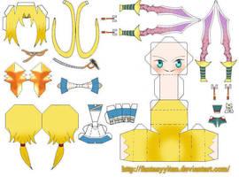 Zidane Tribal Papercraft parts by FantasyYitan