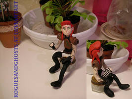 Fimo figure of Jim Lyttle -Rogue Male singer by RoguesAndGhosts