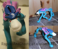 Fimo clay Suicune by RoguesAndGhosts
