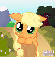 Puppy eyes Applejack by Infera1