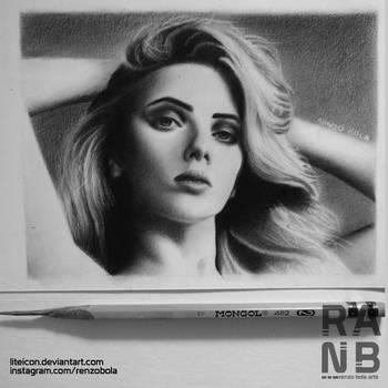 Scarlett Johansson   Graphite Portrait by Liteicon