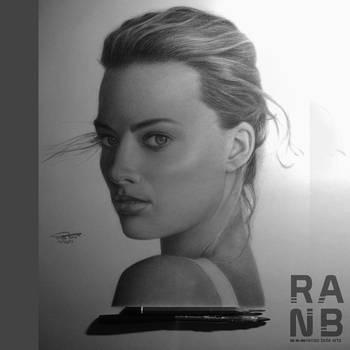 Margott Robbie   Graphite Portrait by Liteicon