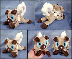 Mini Rockruff Beanie by SewYouPlushieThings
