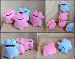 Ditto Beanies by SewYouPlushieThings