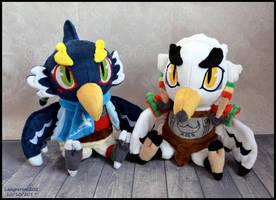 Revali and Teba plush set by SewYouPlushieThings