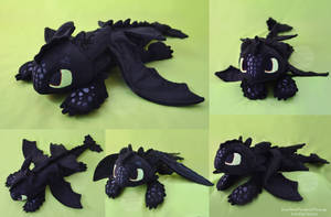 Toothless Large Floppy Plush by SewYouPlushieThings