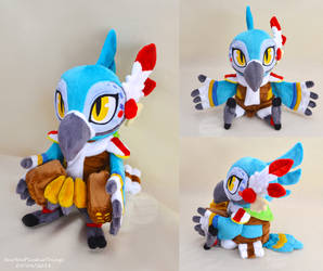 BotW Kass Plushie with Accordion by SewYouPlushieThings