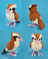 Life size Pidgey Plush by SewYouPlushieThings