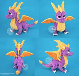 Spyro The Dragon - Reignited Plush by SewYouPlushieThings