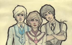 Drawn Again TID Trio by Applenoob45