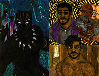 Black Panther Sketches by NOTEBLUE13