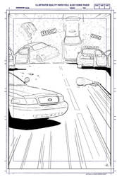 Street Explosion Background (Line work) by anthonywong33