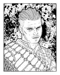 Ivar The Boneless (Line Art) by anthonywong33