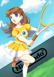 Daisy mario tennis 64 ver by shi-k
