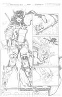 DCUHS 09 Huntress pg 3 PENCILS by wrathofkhan