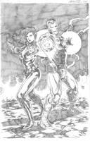Iron Man and Black Widow by wrathofkhan