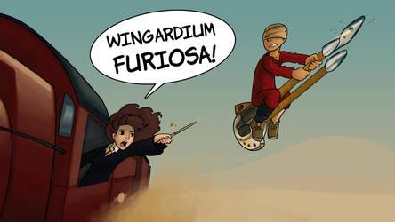 Wingardium Furiosa by icekatze