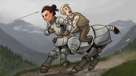 Centaur Chase by icekatze