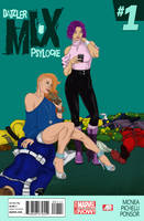 Dazzler and Psylocke in MI-X by Lightengale