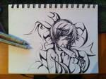 Traditional artwork 5 - This kunai by HowlingNeko