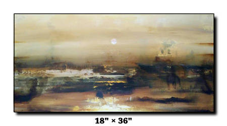 Acrylic on canvas abstract landscape art for SALE by AnjaliFineArtist