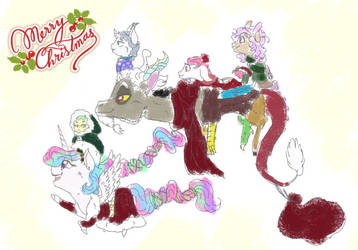 CelestiaCord Contest Entry: A Family Christmas by MiyaTheGoldenFlower